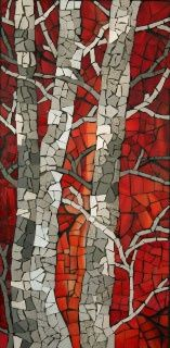 birch tree mosaic (I could carried away with all the beautiful examples of mosaics)
