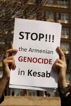 Manifestantes condenan el destino de los armenios en Siria - Soy Armenio
