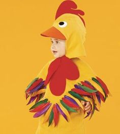 Fall & Halloween felt tutorial: Rooster costume