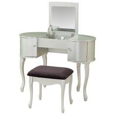 Linon Paloma Vanity Set with Mirror & Reviews | Wayfair