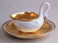 Swan cup with saucer made by Darte Freres Manufactory, Musee National du Chateau de Malmaison, France