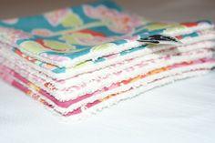 Lingettes/Débarbouillettes lavables en Coton Bio pour bébé Fille : Puériculture. Kumoandfriends.ALittleMarket.com