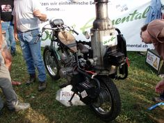 Motorcycle gasifier - powered by wood