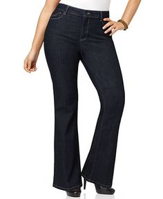 Not Your Daughter's Jeans Plus Size Jeans, Abbey Flared Dark Enzyme Wash