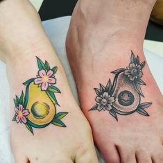 Avocado Tattoo, Matching Sister Tattoos, Colour Tattoo, Neo Traditional Tattoo, Foot Tattoos, Black And Grey Tattoos, Tattoo Studio, Instagram, Pictures