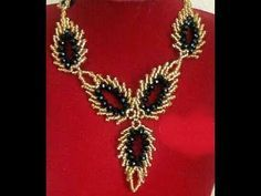 the tutorial on how to make this beautiful leaf beaded necklace - YouTube