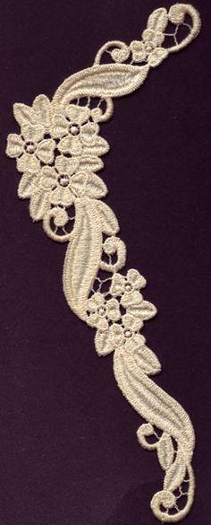 Multi-Floral Neckline Free Standing Lace FSL Machine Embroidery Design