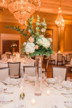 Wedding Flowers- Bright Elegance at Coral Gables on Borrowed & Blue.  Photo Credit: Thompson Photography Group