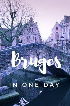 How to spend one day in Bruges. This Bruges guide will give you the highlights of the romantic, fairy tale town so you can see and do it all. Travel Tips For Europe, Travel Destinations, Travel Abroad, European Destination, European Travel, Europe Bucket List, Europe Holidays, Places In Europe, Bruges