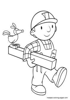 coloring page Bob the Builder on Kids-n-Fun. At Kids-n-Fun you will always find the nicest coloring pages first! Coloring Sheets For Kids, Cool Coloring Pages, Printable Coloring Pages, Free Coloring, Adult Coloring, Coloring Books, Bob Books, Bob The Builder, Painted Rocks Kids