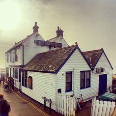The Old Neptune Pub - Whitstable , Kent, England England Ireland, Kent England, England And Scotland, Whitstable Uk, Kent Coast, British Travel, Old Pub, Beach Huts, Travel Log