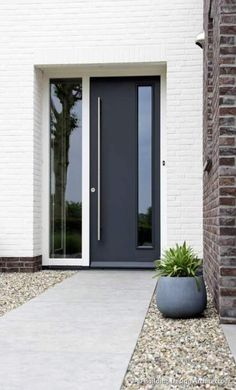 Best Exterior Doors Modern Design Ideas - October 14 2019 at Modern Exterior Doors, Exterior Door Designs, House Entrance, House Doors, Modern Exterior, Porch Design, House Front