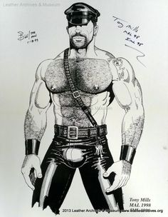 Tony Mills Mr. Mid Atlantic Leather poster by the HUN.