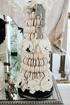 macarons! great idea for the engagement or bridal party