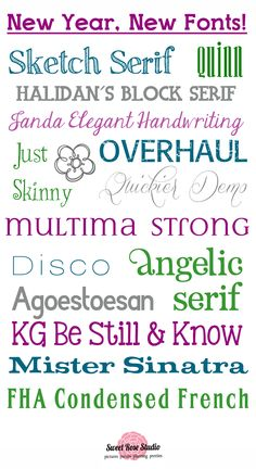 New Year, New Fonts! Oodles of free fonts rounded up at SweetRoseStudio.com! #free #fonts