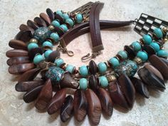 Beautiful Chunky Statement Turquoise and от GemsPearlsAndBeyond