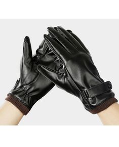 Suede Gloves Women Men Winter Gloves Leather Gloves Classical Faddish  Gift