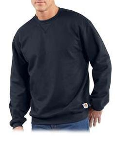 Carhartt Mens FRK127 Flame Resistant Heavyweight Crewneck Sweatshirt - Dark Navy | Buy Now at camouflage.ca