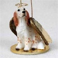 English Setter Christmas Ornament Angel: Nothing beats the exceptional look and quality of our… #PetProducts #PetGifts #AnimalJewelry