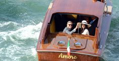 George Clooney and new wife Amal Alamuddin, Venice, Italy. Amal Clooney, George Clooney, Italy Tourist Attractions, Best Destination Wedding Locations, Wedding Spot, New Wife, Wedding Dresses Photos, Celebs, Celebrities