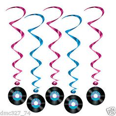 Add a little shimmer and shine to the shimmy and shake at your Rock N Roll themed party, buy these Rock and Roll Record Whirls and dangle them above your rock and rollers. Grease Themed Parties, 50s Theme Parties, Grease Party, Music Themed Parties, Party Themes, Party Ideas, Music Party, Disco Party, Disco Theme