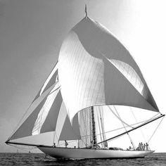 Classic Sailboat Sailing
