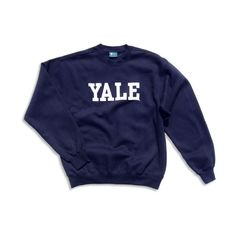 Yale ($39) ❤ liked on Polyvore featuring tops, hoodies, sweatshirts, sweaters, shirts, blue shirt, shirt tops, blue top and blue sweatshirt