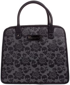 LOUNGEFLY SKULL LACE EMBOSSED SATCHEL BAG Loungefly introduces the Skull Lace…