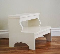 Learn how to build a vintage step stool! FREE plans and tutorial at Ana-White.com