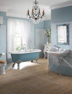 Every bathroom needs a crystal chandelier and a wedgwood porcelain claw-footed bathtub.  DUH.