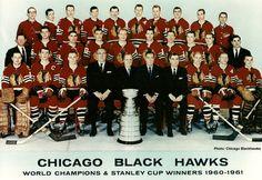 Chicago Blackhawks Time Capsule: Taking a Look at the 1961 Championship Blackhawks Hockey, Hockey Teams, Chicago Blackhawks, Blackhawks News, Hockey World, Nhl News, Wayne Gretzky, Stanley Cup Champions, Black Hawk
