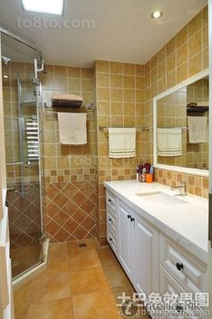 American home style bathroom decoration pictures