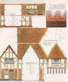 Toys and Stuff: Kellogg's UK Paper Village Sheet 2 Pt 1 - Butcher's Shop & Grocer's Shop