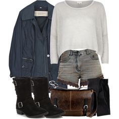 """""""Allison Inspired Outfit with a Blue Parka"""" by veterization on Polyvore Teen Wolf Outfits, Edgy Outfits, Summer Outfits, Cute Outfits, Best Motorcycle Boots, Motorcycle Outfit, Fashion Boots, Fashion Outfits, Outfits"""