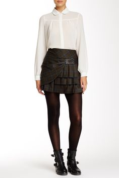 Pleated Plaid Skirt by L.A.M.B. on @HauteLook