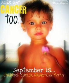 September is Childhood Cancer Awareness Month www.RockstarRonan.com