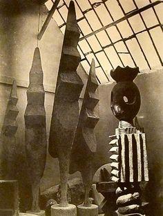 Constantin Brancusi - King of Kings & 4 versions of Large Cock, 1945