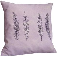 Feather cushion. Violet cushion cover. (44 CAD) ❤ liked on Polyvore featuring home, home decor, throw pillows, handmade home decor and feather throw pillows