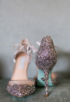 Blinged-out Betsy Johnson stilettos // Story and Rhythm