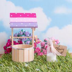 pink rainbow fairy wishing well for Fairy Doors uk