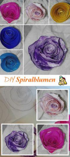 Spiralblumenformen ganz einfach selbstgemacht | DIY Paper flowers