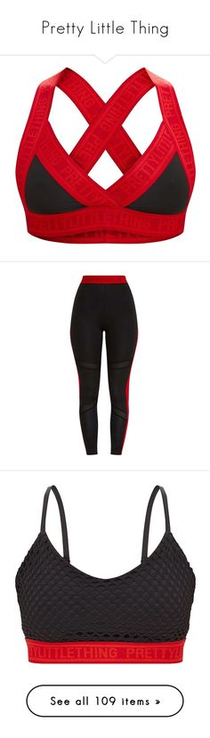 """""""Pretty Little Thing"""" by isthelastofus ❤ liked on Polyvore featuring tops, pretty little thing, red top, cut-out crop tops, crop tops, red crop tops, pants, leggings, legging pants and fishnet top"""