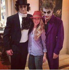 Jon Bon Jovi is the joker. His son Jesse James Bongiovi is the penguin.