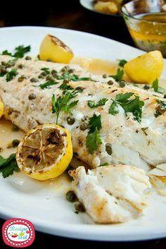 Baccalà al limone - baked Fish with lemon sauce