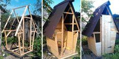 Фото-иллюстрации: строит туалет на даче своими руками. Чертежи представлены выше