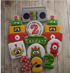 Yo Gabba Gabba birthday cookies