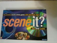 Mattel Scene It The DVD Game, Movie Trivia Game With Real Movie Clips