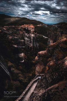 Meteora by natassat #travel #traveling #vacation #visiting #trip #holiday #tourism #tourist #photooftheday #amazing #picoftheday