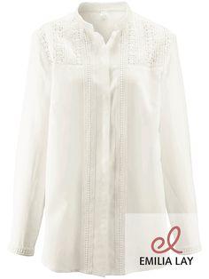 Bluse aus reiner Seide von Emilia Lay