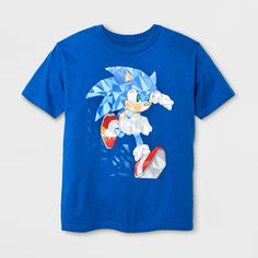 ' Short Sleeve Knuckles T-Shirt - Sonic the Hedgehog Royal Blue XL